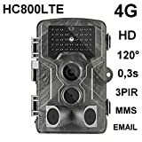 HC-800LTE 4G FOTOTRAPPOLA 16MP Full HD Trail Hunting Camera 42 Nero LED 0,3 Sec Trigger 120° VIDEOCAMERA Fotocamera da Caccia Support 4G 3G 2G gsm MMC SMTP SMS