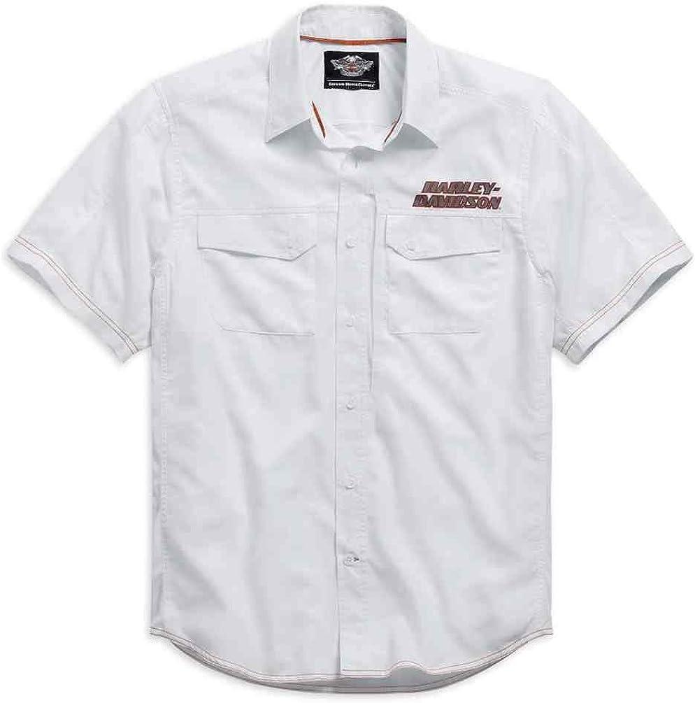 Harley-Davidson Mens Stay Cool Performance S/S Shirt, White. 99015-15VM