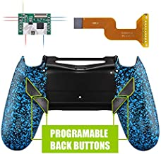 eXtremeRate Dawn Programable Remap Kit for PS4 Controller with Mod Chip & Redesigned Back Shell & 4 Back Buttons - Compatible with JDM 040/050/055 - Textured Blue