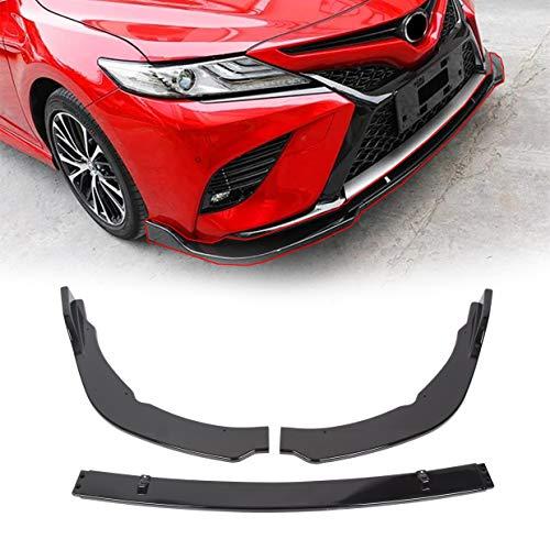 JMTAAT Front Spoiler Bumper Lip Splitter Cover Trim Diffuser Deflector Compatible with Toyota Camry SE/XSE 2018 2019 2020 Gloss Black 3PCS