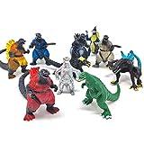 10 Piece Godzilla Monsters Mechagodzilla Gigan Anguirus Dinosaur Action Figures Toys, 3 Inch Cake Toppers Play Set of 10