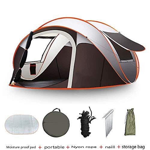 Strnry Pop-Up-tent voor kamperen, pop-up map, voor 5-8 personen, strandtent, snel te openen, waterdicht, UV-bescherming, voor wandelen, reizen, strand
