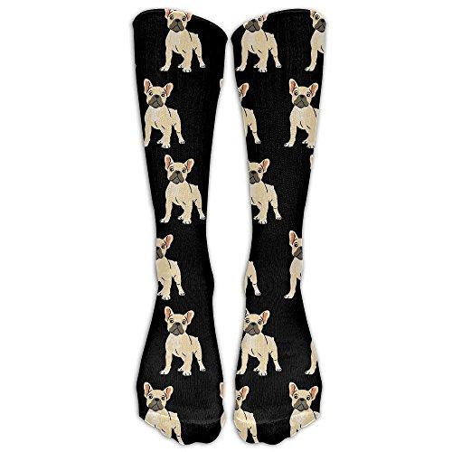 Daisylove French Bulldog - Calcetines de caña Alta, diseño de Bulldog
