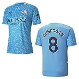 Manchester City Trikot Home Herren 2021, Größe:XL, Spielerflock (zzgl. 20.00EUR):8 Gündogan