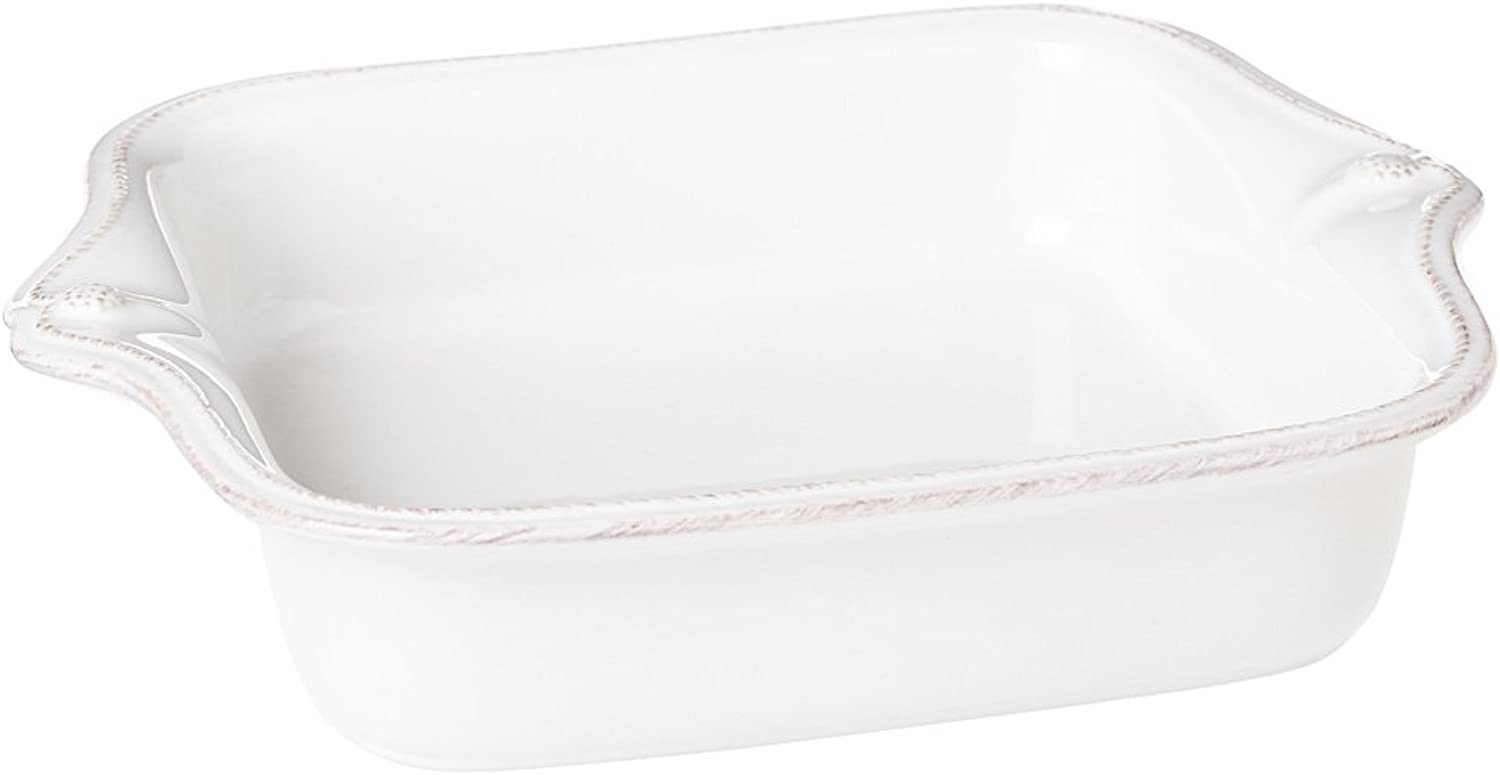 Berry and Thread Square Baker - Whitewash