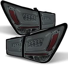 For 11-15 Chevy Cruze J300 Smoke LED Light Tube Design Full LED Tail Lights Brake Lamps 4pcs Set Pair