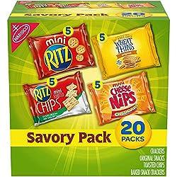 Nabisco Savory Cracker Variety Pack, RITZ, Cheese Nips, Wheat Thins & RITZ Toasted Chips Sour Cream