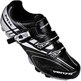 Venzo Mountain Men's Bike Bicycle Cycling Shoes - Compatible for Shimano SPD Cleats - Good for Indoor Cycle, Off Road and MTB Buckle Strap -Size 7.5