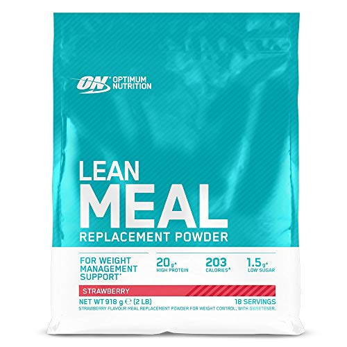 Optimum Nutrition ON Lean Meal Replacement, High Protein Multivitamin Powder with Minerals, Strawberry, 18 Servings, 918 g, Packaging May Vary