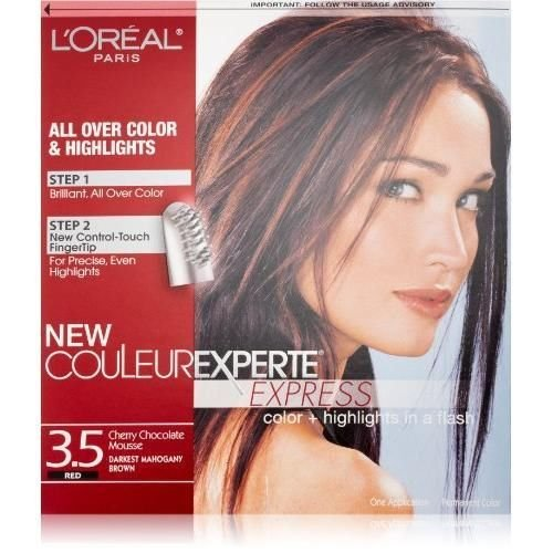 L'oreal Paris Couleur Experte Express Hair Color, 3.5 Darkest Mahogany New