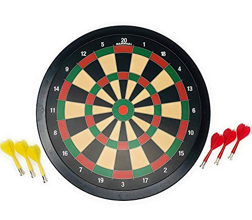 Narwhal Magnetic Dartboard Set 15.5 Inch Dart...