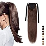 """16"""" Human Hair Ponytail Extension 100% Remy Real Wrap Aronud Tie Up Binding"""