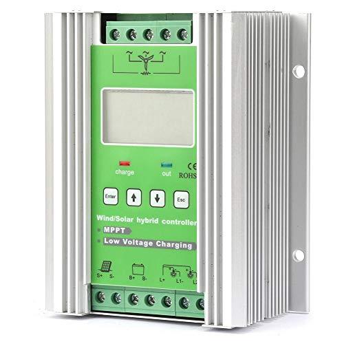 Qinlorgo Wind Solar-Hybridladeregler MPPT-Aufladung 12 / 24V Auto LCD Wind Solar-Hybridladeregler MPPT-Aufladung 12 / 24V Auto(300W Wind 300W Solar)