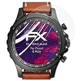 atFoliX Glasfolie kompatibel mit Fossil Q Nate Panzerfolie, 9H Hybrid-Glass FX Schutzpanzer Folie