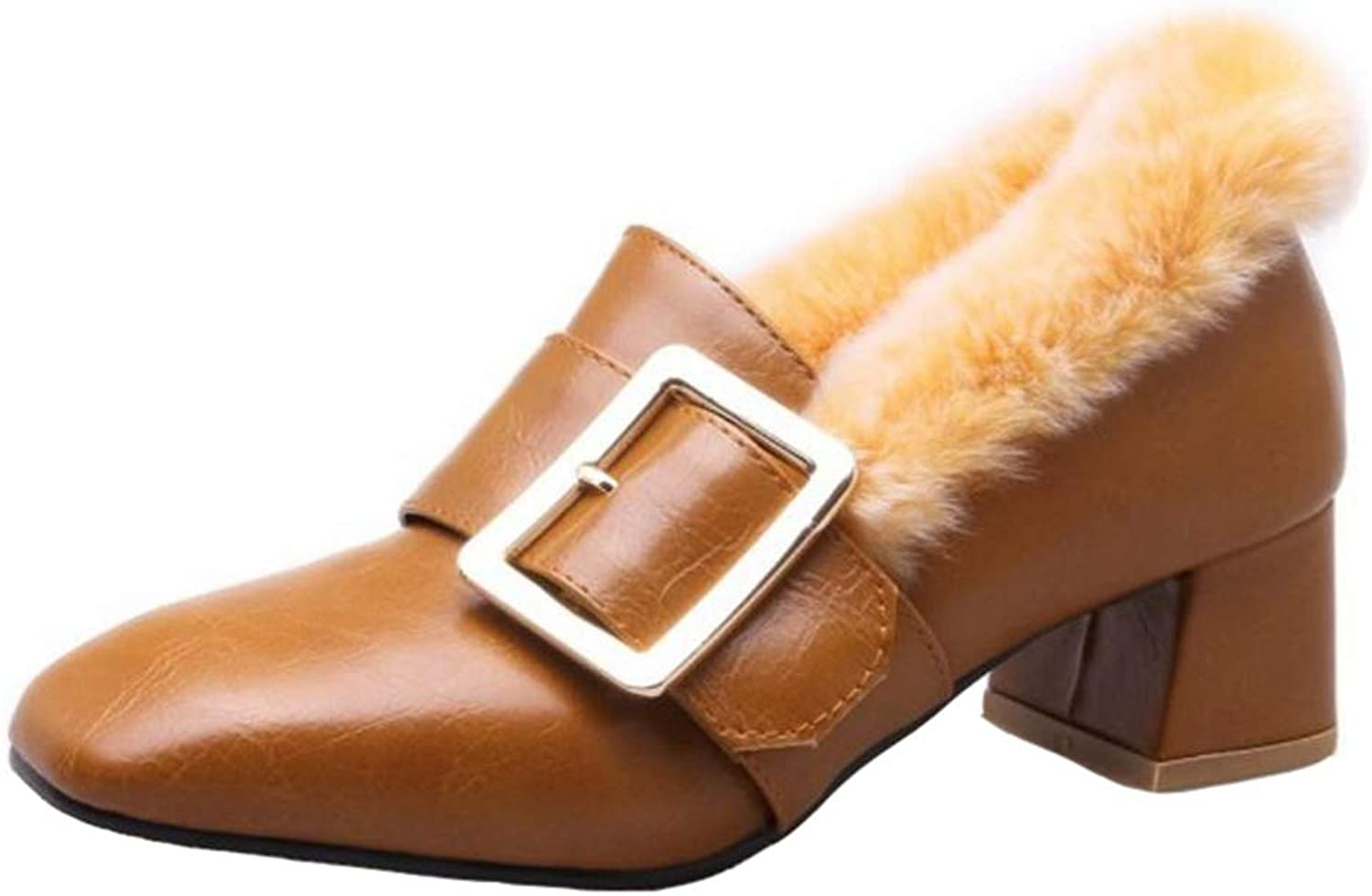 Smilice Women Synthetic Fur Court shoes