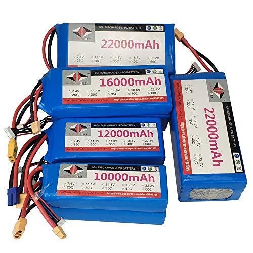SHUGJAN 10000 12000 16000 22000 mAh 7.4V 11.1V 14.8 18.5V 22.2V 3S 4S 5S 6S 20C 30C 35C 40C Lipo batería for pulverización agrícola aviones no tripulados Piezas de montaje RC