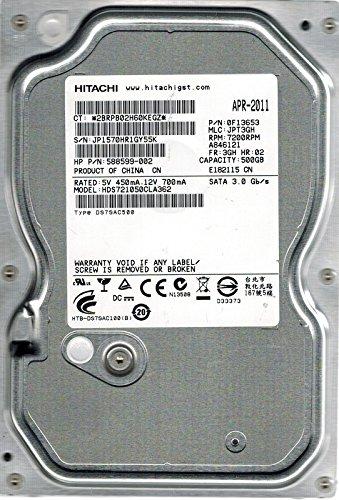 Hitachi HDS721050CLA362P/N: 0F13653MLC: jpt3gh 500GB