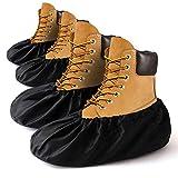 Shoe Covers Reusable, Boot Covers Non Slip Washable, Premium Large Shoe Booties Protectors Covers for Men Women Indoors Work Contractors Painter Carpet Cleaners (2 Pair)