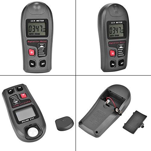 LCD Display Illuminometer Lichtmesser Luxmeter Tester Digital für Industrie mit Reichweite 0,1-200000 Lux oder 0,01-20000 Fc