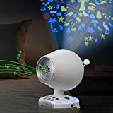 Portable White Noise Machine with Night Light Projector, Sleeping Sound Machine for Office Privacy, Lullaby Travel Crib for Bedroom, Auto-Off Timer, Earphone Jack, Battery Powered&Plug-in