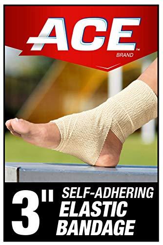 ACE 3 Self-Adhering Elastic Bandage Wrap, White