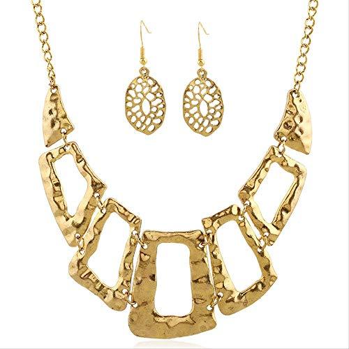 VAWAA Vintage Mujeres Maxi Collares Irregulares Colgantes Collar Metal Marca aleación Collares joyería Bonita declaración