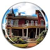 Weekino Bangor Stephen King'S House Maine Estados Unidos Imán de Nevera 3D de Cristal de la Ciudad...