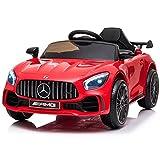 ATAA Mercedes GTR Mini - Rojo - Coche eléctrico para niños y niñas con Mando para Padres y batería 6v