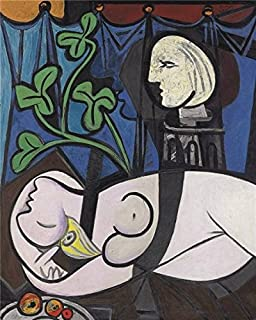 High Quality Polyster Canvas ,the High Definition Art Decorative Canvas Prints Of Oil Painting 'Pablo Picasso - Nude, Green Leaves And Bust, 1932', 24x30 Inch / 61x76 Cm Is Best For Dining Room Decoration And Home Decoration And Gifts