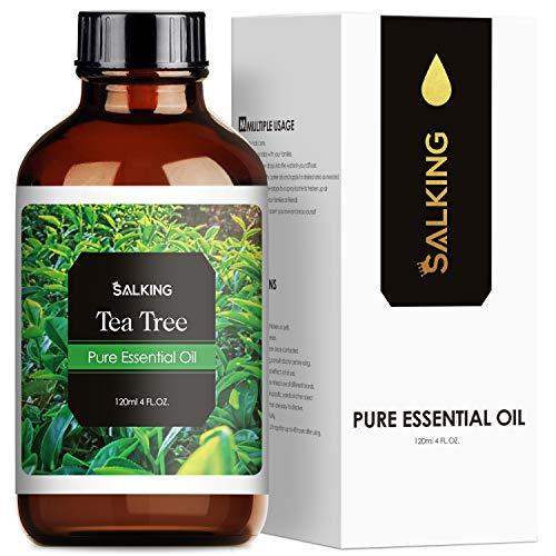 SALKING Aceite Esencial de Árbol de Té 120ml,100% Puro y Natural Aceites Esenciales para Humidificador, Aceites Esenciales Naturales Aceite Perfumado de Árbol de Té, Regalos Originales para Mujer