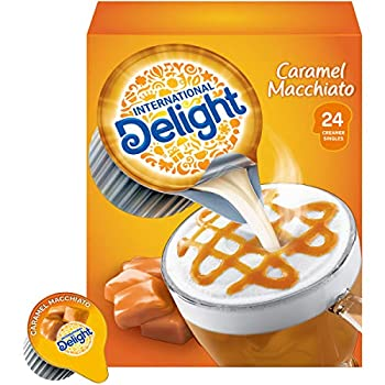 International Delight Coffee Creamer Singles Caramel Macchiato 24 Count  Pack of 6