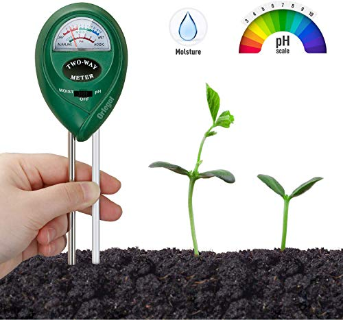 Orlegol Test per terreno, Tester per Il Suolo, 2in1 Tester per misuratore di umidità/PH dell\'acidità delle Piant, igrometro per Il monitoraggio dell\'Acqua del Suolo, Test del Suolo Test PH del Terreno