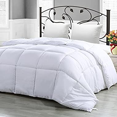 Utopia Bedding King Comforter Duvet Insert White (350 GSM) - Quilted Comforter with Corner Tabs - Hypoallergenic, Plush Siliconized Fiberfill, Box Stitched Down Alternative Comforter