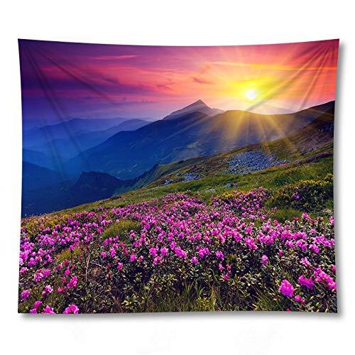 KHKJ Paesaggio di Montagna Arazzo da Appendere a Parete Asciugamano da Spiaggia Tappetino da Yoga Coperta in Tessuto Decor LargeTappeto A2 200x150cm