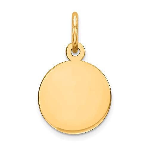 Jewelry & Watches Analytical 14k Yellow Gold Graduation Day Disc Charm Fine Jewelry