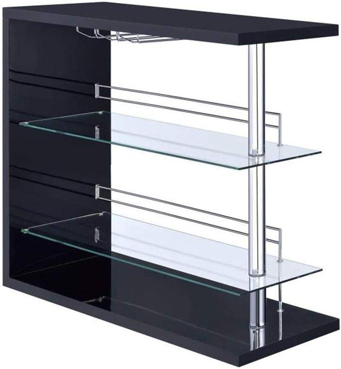 COASTER CO- online shopping Bar Black Glossy Very popular Unit