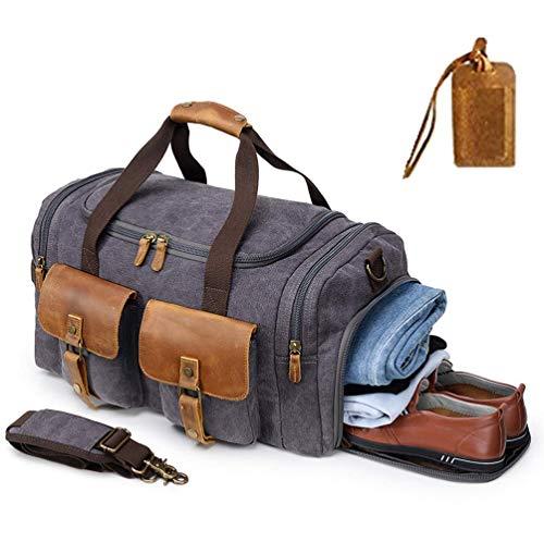 Canvas Duffle Bag Overnight Bags for Men Weekend Travel Duffel Weekender Bags...
