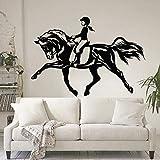BailongXiao Femme Chevalier équitation Sticker Mural Spectacle équestre Vivant