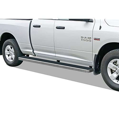 APS iBoard Running Boards (Nerf Bars Side Steps Step Bars) Compatible with 2009-2018 Dodge Ram 1500 Quad Cab Pickup 6.5ft Bed (09-12 Drilling Required) (Silver 5 inches Wheel to Wheel)