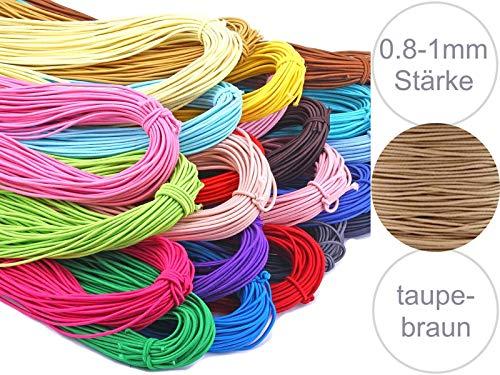 Sadingo rubberen band, elastisch elastiekkoord, 6 uitsneden van elk 30 cm [0,8 – 1 mm dikte] maskers maken gezichtsmaskers, wasbaar