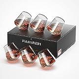 fahimeh bicchieri whisky rum cocktail amaro liquore cognac vino bianco cristallo vetro senza stelo tumbler particolari personalizzato bellissimo regalo set da 6pc 400ml