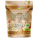 NUTRALEAN Whey Protein + Prebiotic Fiber Keto Meal Replacement Shakes, Nut-Free, Allergen-Safe, Gluten-Free, Low Carb, Paleo, Non GMO, Grass-Fed Whey Protein Supplement 35 Scoops 908g Vanilla Cream