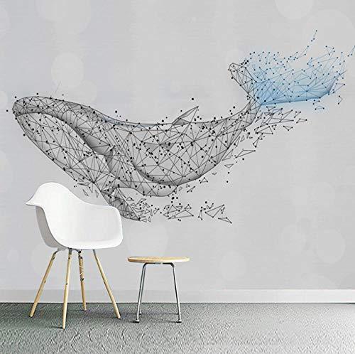 Wand Bilder Geometrisches Musterwal 3D Fototapeten Wandbild Motivtapeten Vlies-Tapeten Wandtapete Tapete Wohnzimmer Schlafzimmer Wallpaper Wandbild 450X350Cm