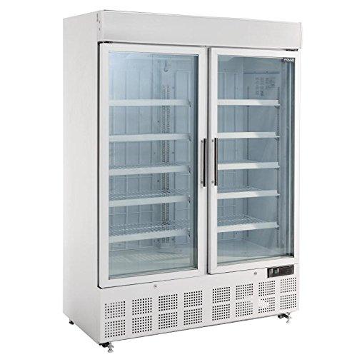 Polar Display Gefrierschrank mit Lichtbox, 920 Liter, kommerzielles Restaurant Catering