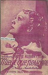 Mieux que personne - Tango chanté - Création Jeanne Aubert