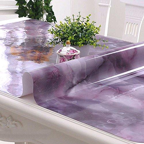 HM&DX PVC Tischdecken Wasserdicht Ölfreie Anti-heiß Schmutzabweisend Tischtuch schutzfolie Folie Einfache Dekorationen Kaffee Tisch verkleidung-lila 60x120cm(24x47inch)