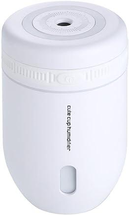 Sheremi 卓上加湿器 220ml容量 ミニ 超音波式 空気清浄機 除菌 静音 室内乾燥対応 空焚き防止 4色 (85*85*110, ホワイト)