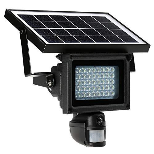 KKmoon 720p HD CCTV Seguridad DVR Lámpara solar 40 LED Proyector de luz de calle IR Grabador PIR Detección de movimiento Energía solar Carga incorporada Batería de litio Soporte para PC-CAM Tarjeta TF