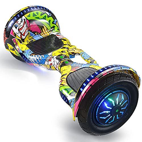RENSHUYU Hoverboards para niños, con Altavoz Bluetooth, Rueda Luminosa, Hermosas Luces LED, Hoverboards para niños y Adolescentes y Adultos.