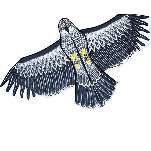 Spachy Enormes Cometas de águila, Cometa de pájaro Grande, Vuelo fácil de Cometa para Juegos al Aire Libre, Tela de poliéster de Cometa 3D, Juguete para niños
